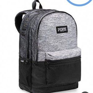 NWT—VS PINK favorite Campus Backpack, marl gray